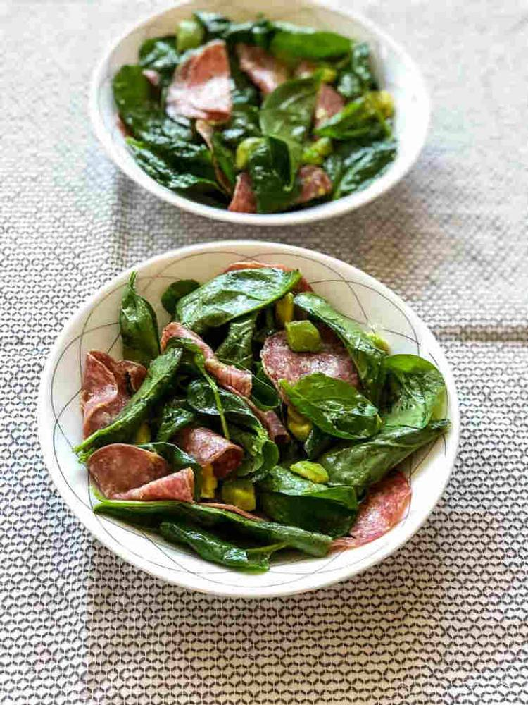 Five-Minute Keto Salami Salad Recipe