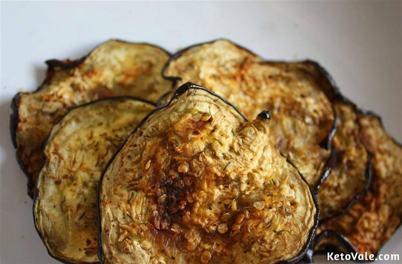 Eggplant Chips with Herbs and Olive Oil