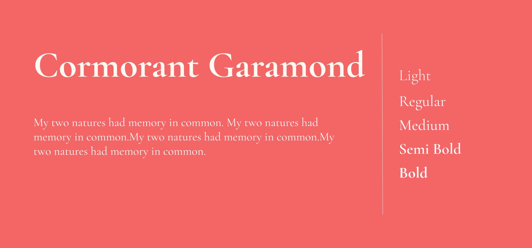 Cormorant Garamond font