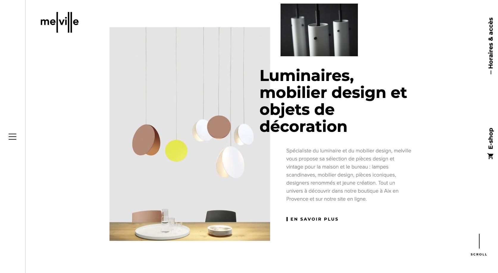 Melville design website