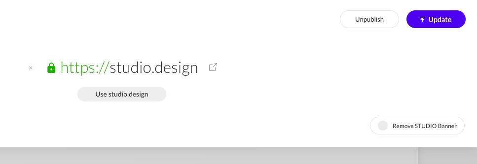 update website studio