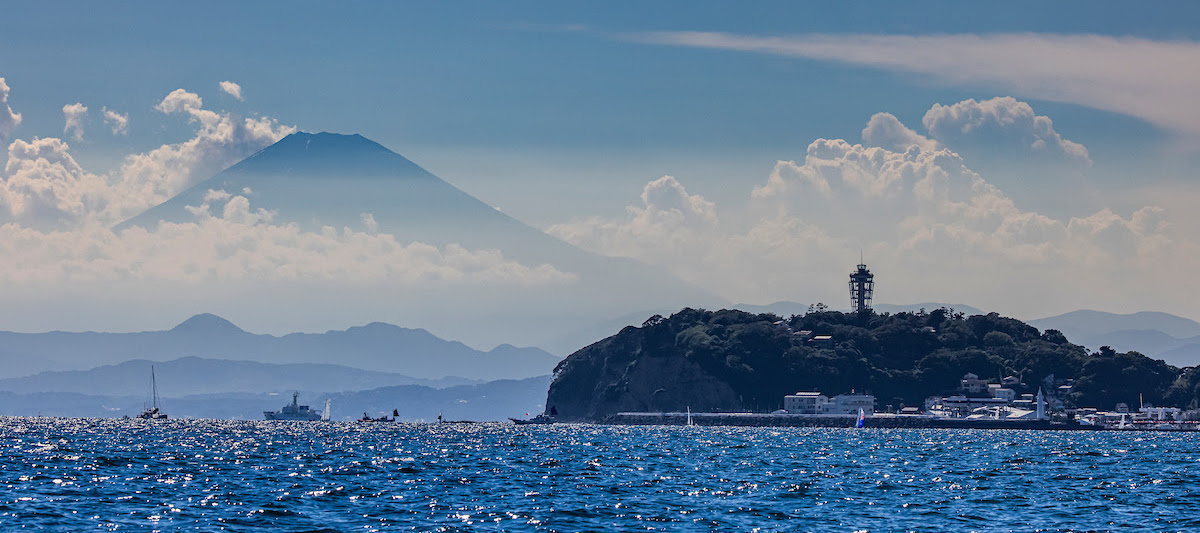 Mount Fuji looms over Enoshima, venue for the 1964 and Tokyo 2020 Games