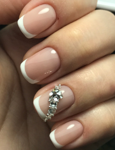 Manicure with french/ombre design