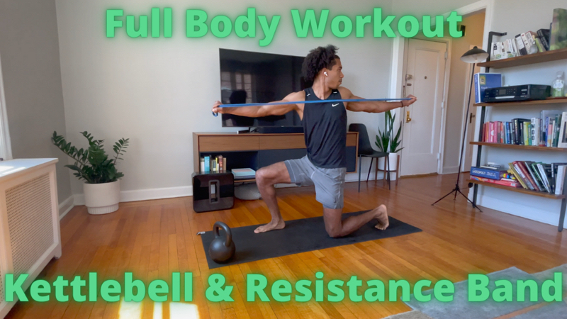 Activity image of  Full Body Home Workout - Kettlebell & Resistance Band