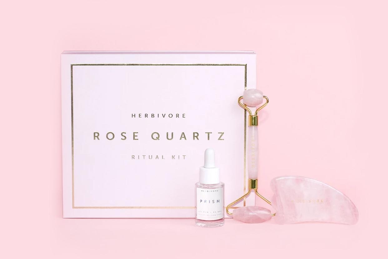product shot of Herbivore Botanicals Rose Quartz Ritual Kit