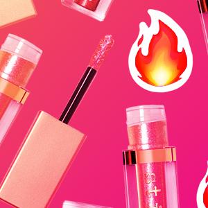 Stila liquid eyeshadow and fire emojis