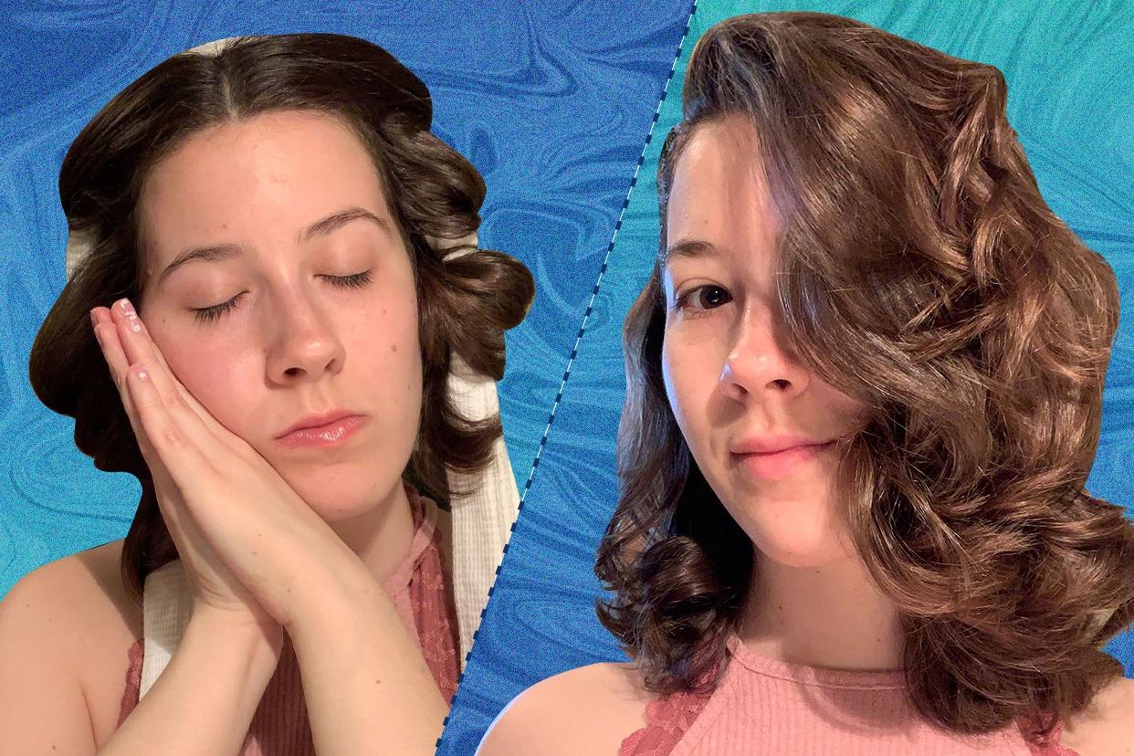 TikToke bathrobe belt overnight curls hack