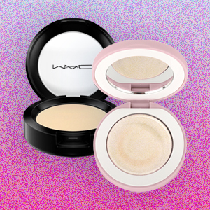 MAC cream color base and Queendom highlighter