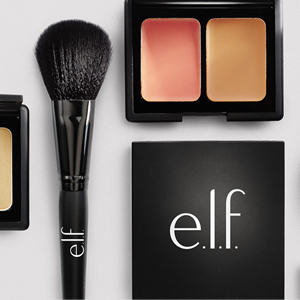 e.l.f. products on a table
