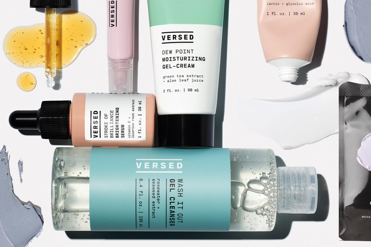 Versed skincare products