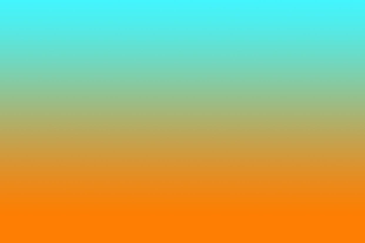 Blue and orange ombré
