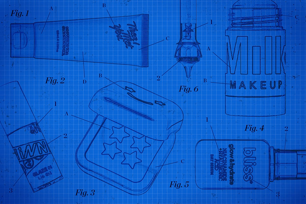 Blueprint of popular beauty products packaging
