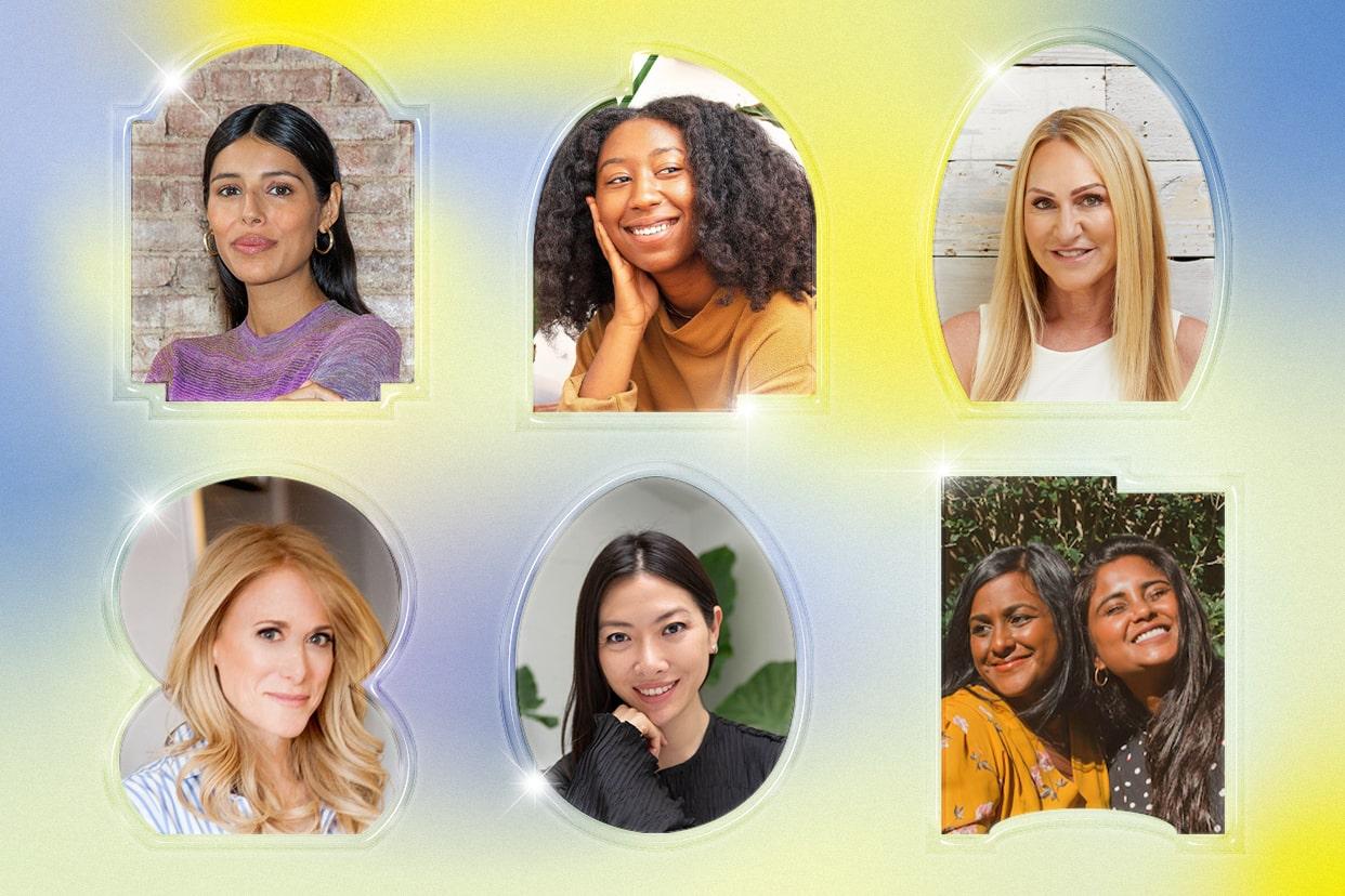 6 female beauty brand founders' headshots