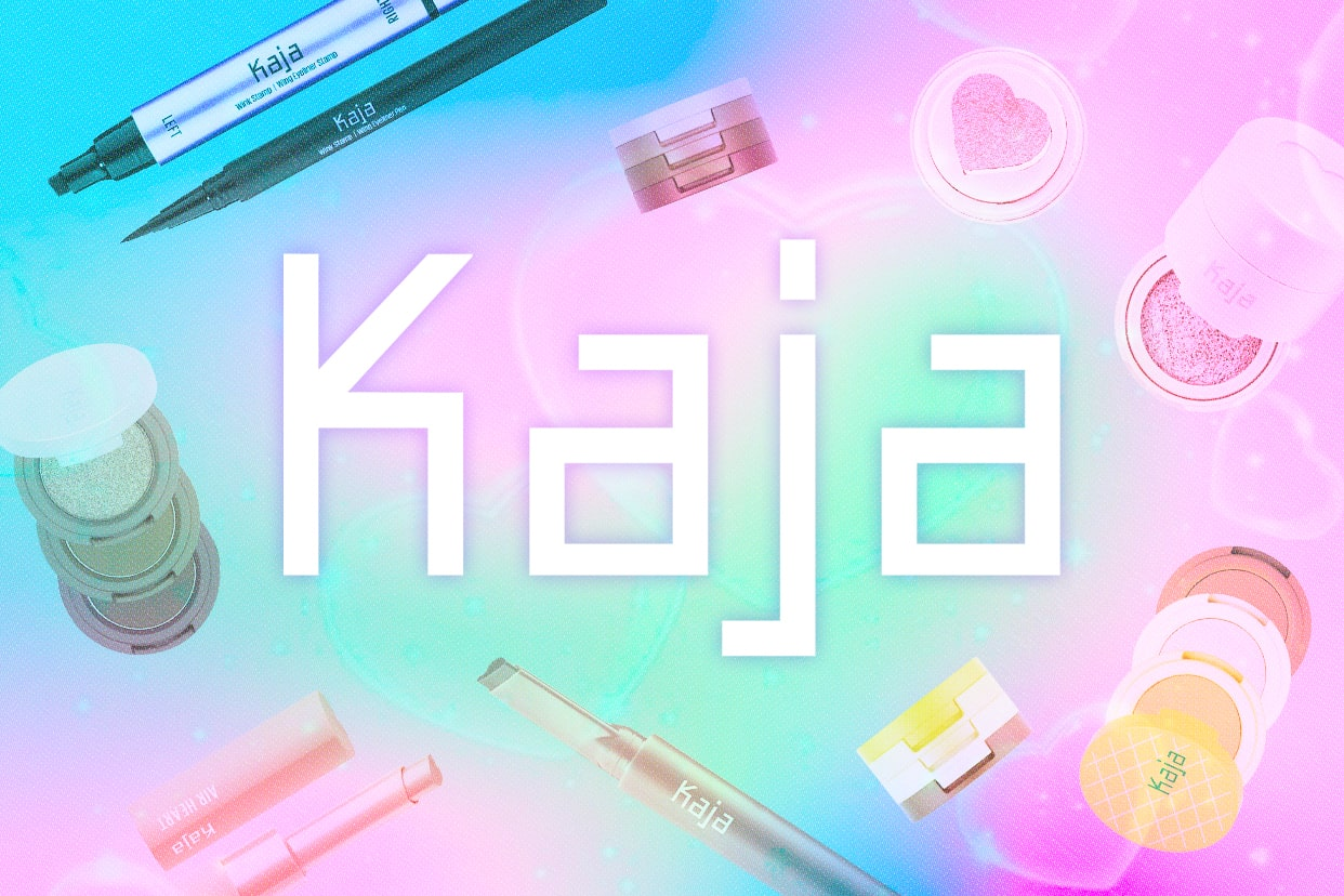 kaja makeup brand logo and products