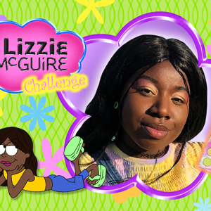 Woman in Lizzie McGuire inspired makeup