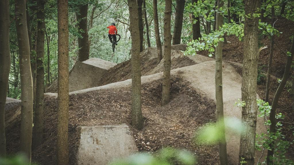 Silkeborg Bikepark - Sort hop linie