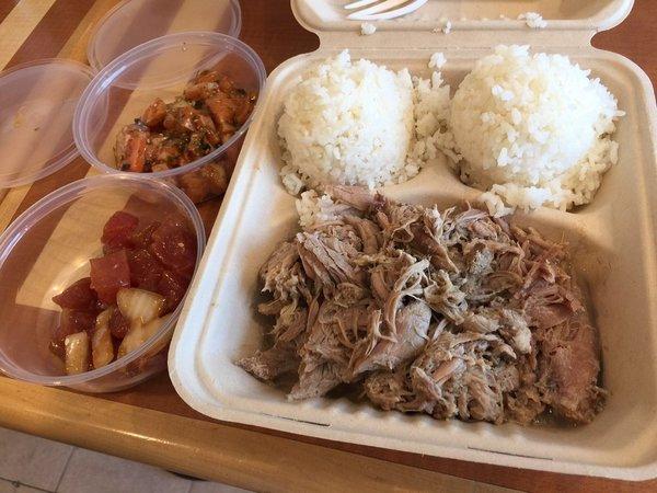 Kalua Pig and Poke Plate