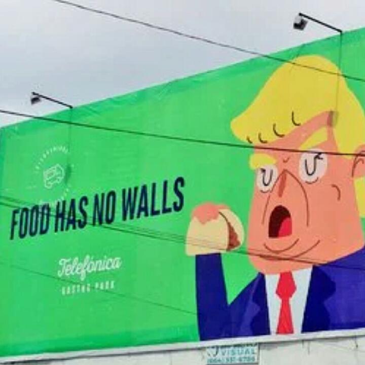 food has no borders #trump #tacos