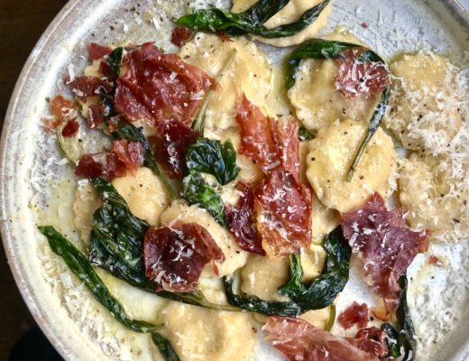 Recipe: Sweetcorn Ravioli with Crispy Parma Ham, Butter and Basil #PASTA | #GNOCCHI | #NOODLES | #DUMPLINGS