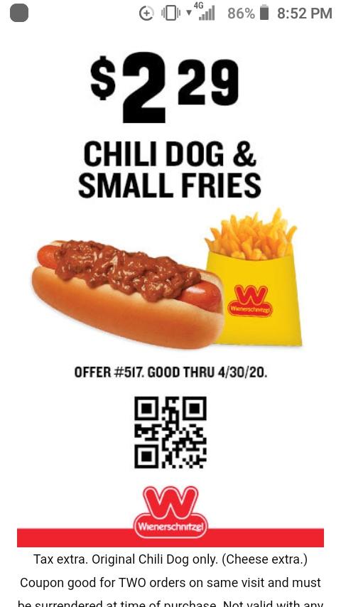 4/20 muchies app w/chili dog & fries 😋😋😋