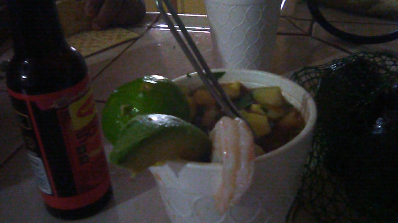 #shrimp cocktails at dogos y burger 686 ... at #rosarito beach mexico 22706