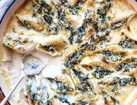 Recipe: Super Cheesy Stuffed Pasta Shells