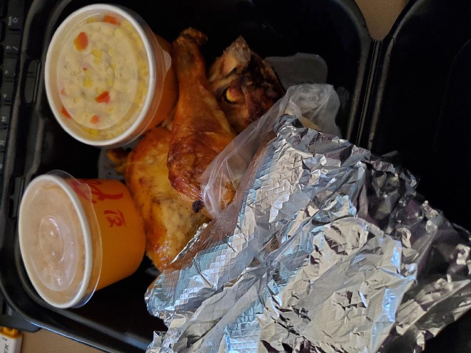 yummy El Pollo Loco. Yummy chicken plus 2 Baja shrimp Tacos.
