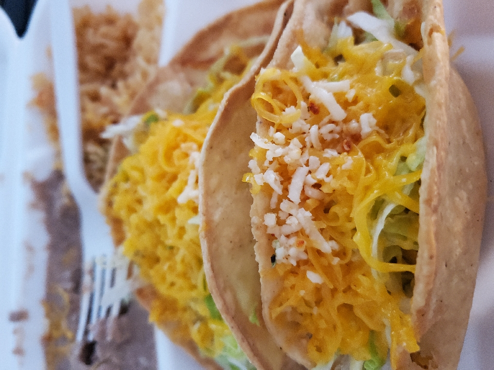 chicken tacos combination.  😋