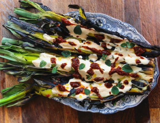 Recipe: Burnt Leeks with Warm Yoghurt Sauce and Chipotle. #VEGETABLES | FUNGI #BBQ