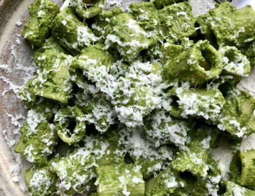 Recipe: Rigatoni with Kale, Walnuts and Halloumi