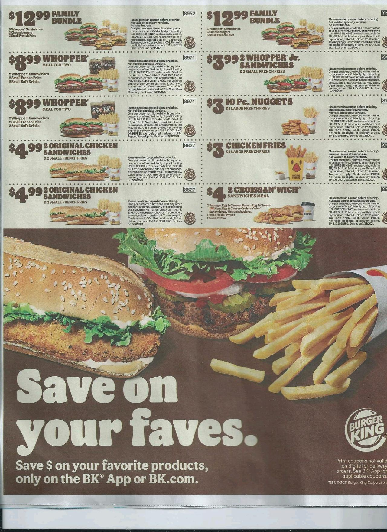 current bk coupon qr codes January 12, 2021