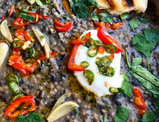 Recipe: Smoky Aubergine and Black Lentil Dhal