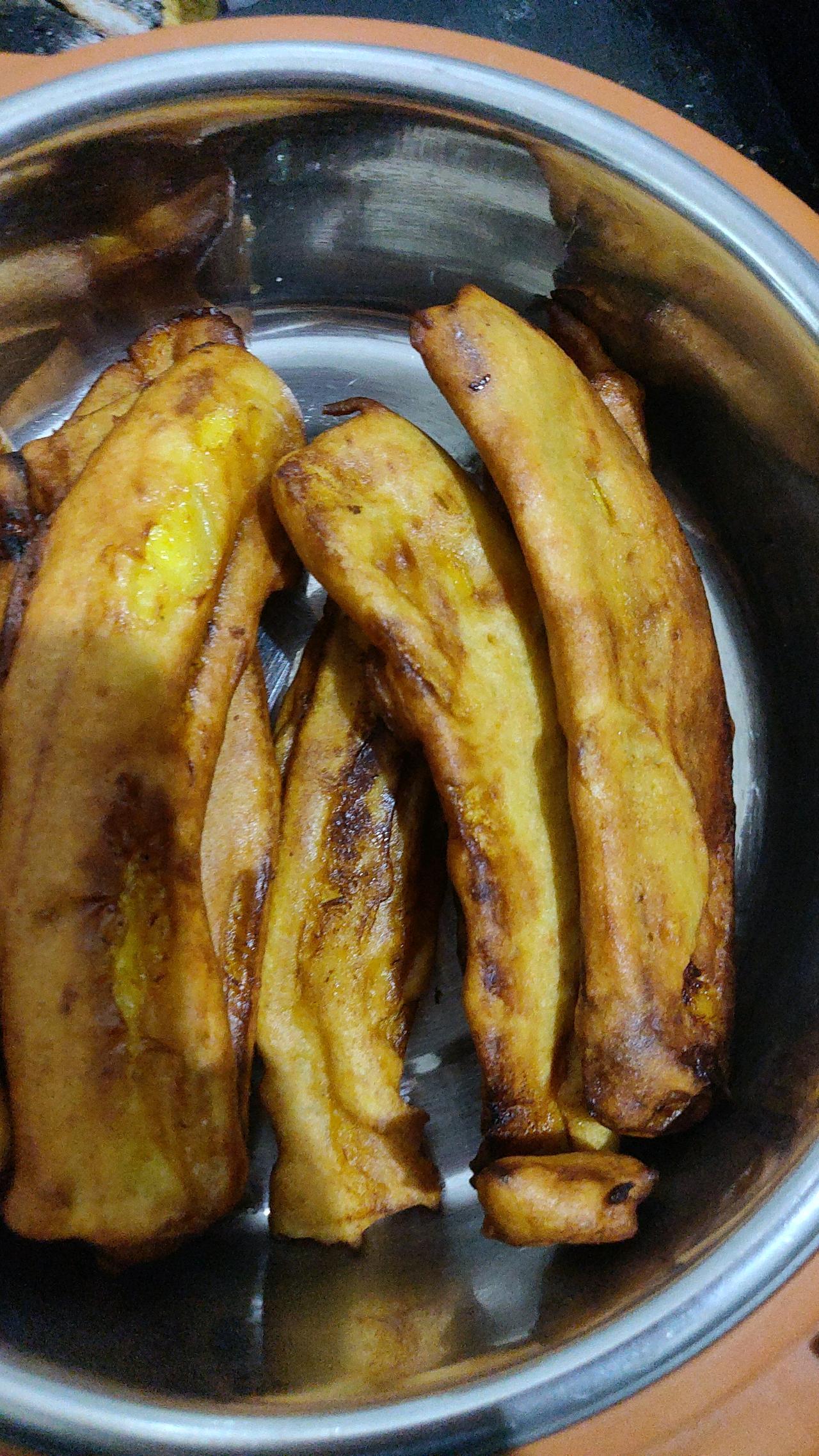 #fried bananas ❤️
