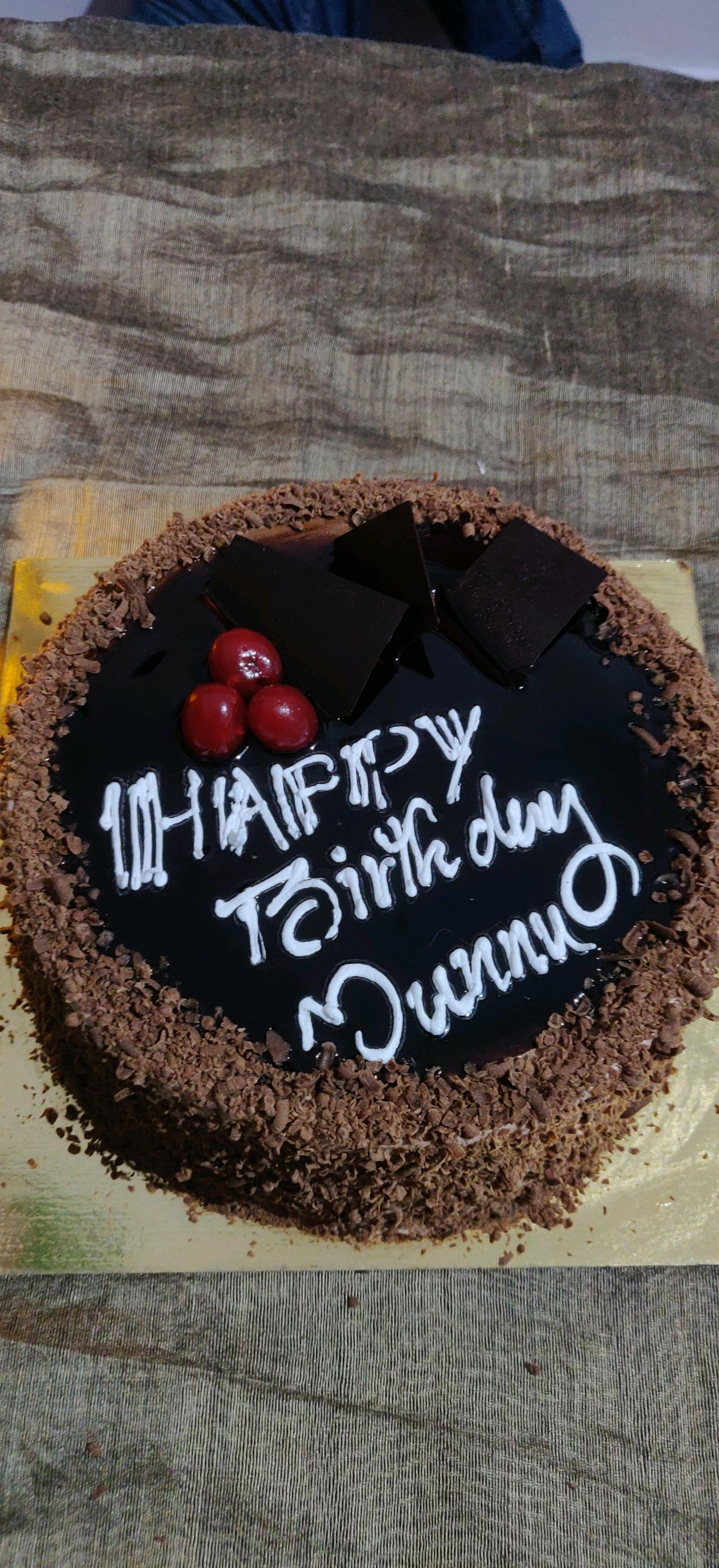 #happy bday munnu❤️ #chocolate cake❤️😍