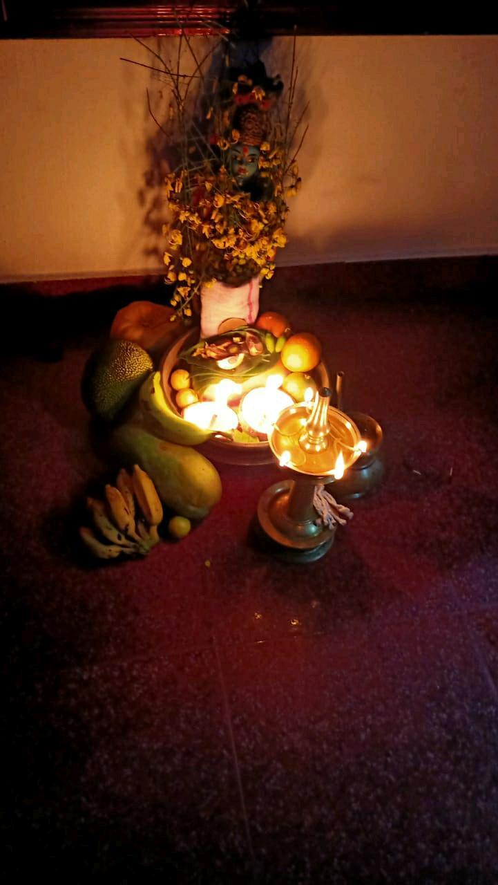 #happykeralaNewYear #worshiping loard krishna #happyindianNewYear
