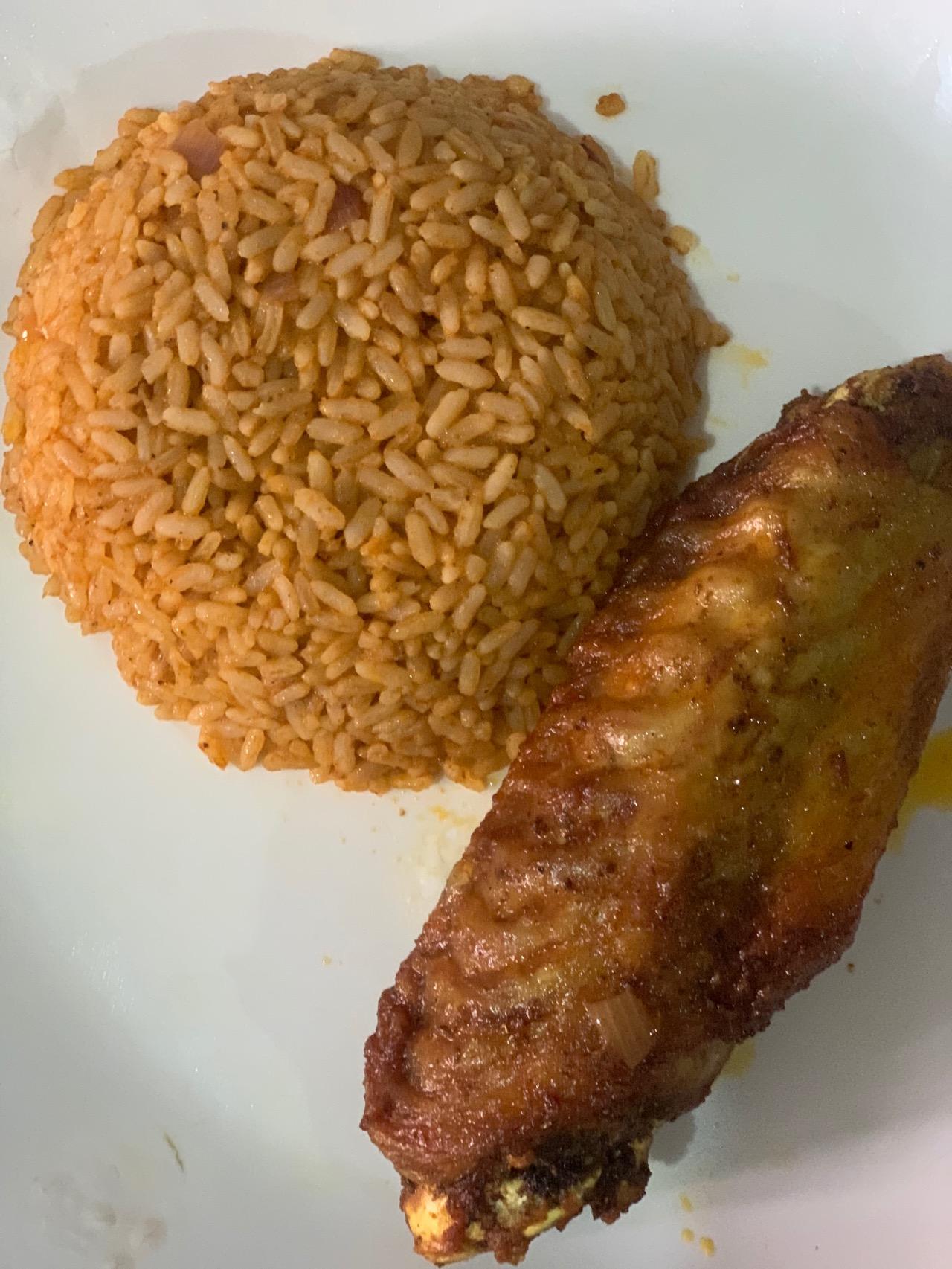 #cookingrecipehq  jollofrice with fried turkey🤩😋