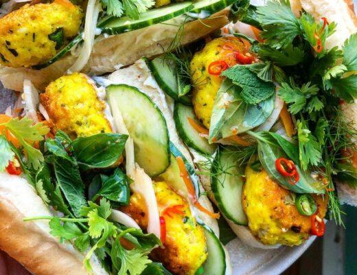 Recipe: Turmeric Fish Cake Bánh Mì   #fish #seafood #sandwitch