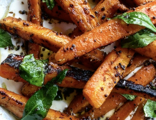 Recipe: Grilled Marinated Carrots, Strained Yoghurt and Curry Leaves Carrots are one of those vegetables I've never felt particularly excited about.
