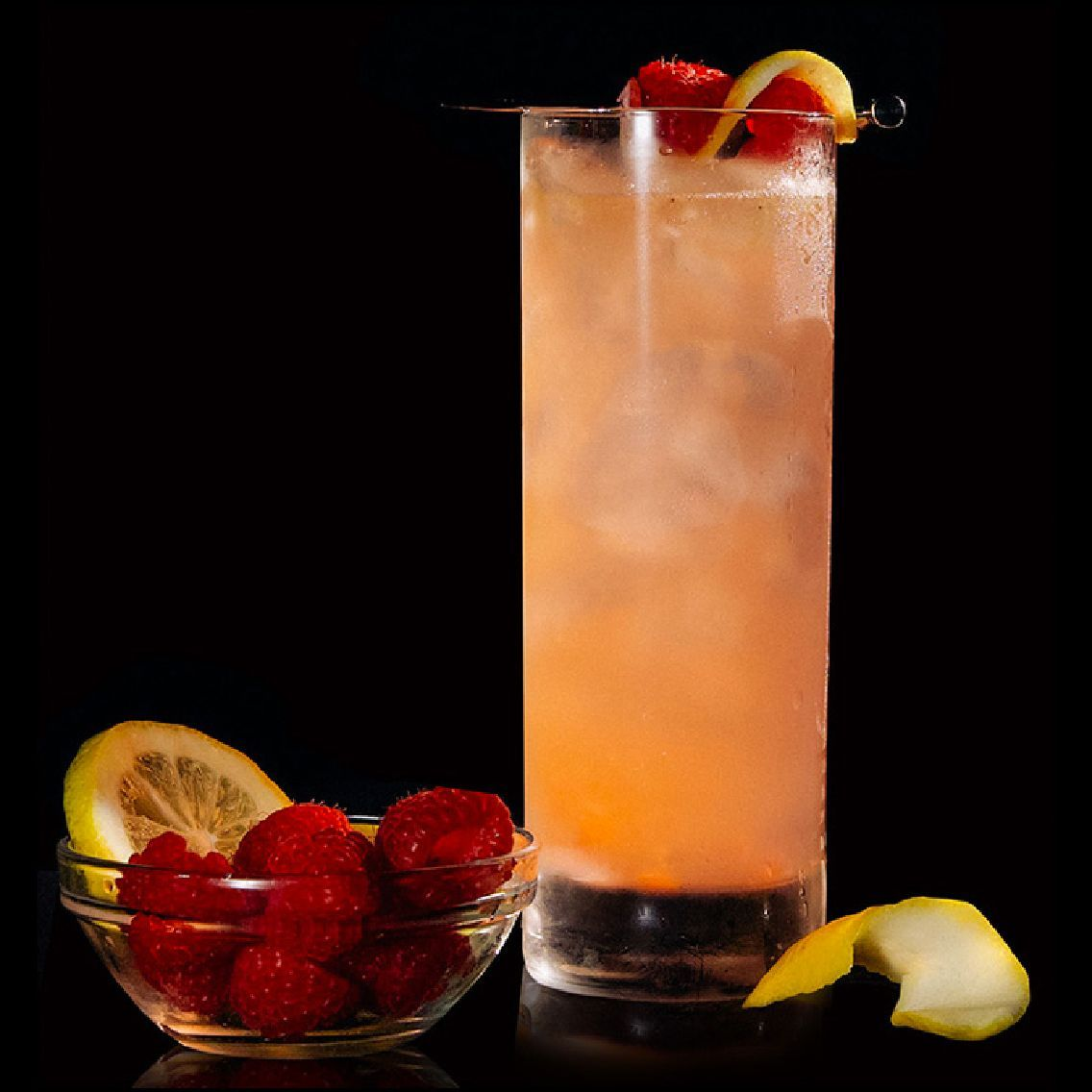 A delicious raspberry lemonade infused with the complex flavor of Gothic Gin.