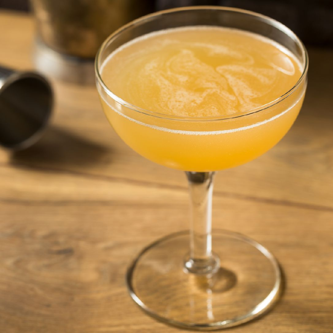 If you like the Sidecar, you're sure to love the Between the Sheets cocktail, a variation that brings rum to the party. We've seen a range of different proportions, but this ratio is the one we recommend, especially if you choose quality bottles of rum and cognac.