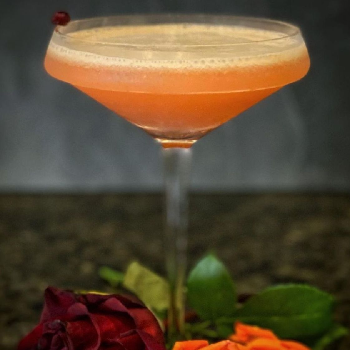 SkiGrrrl is the creator of this cocktail. She featured our Sicilian Blood Orange to create this cocktail. Here is the original post.