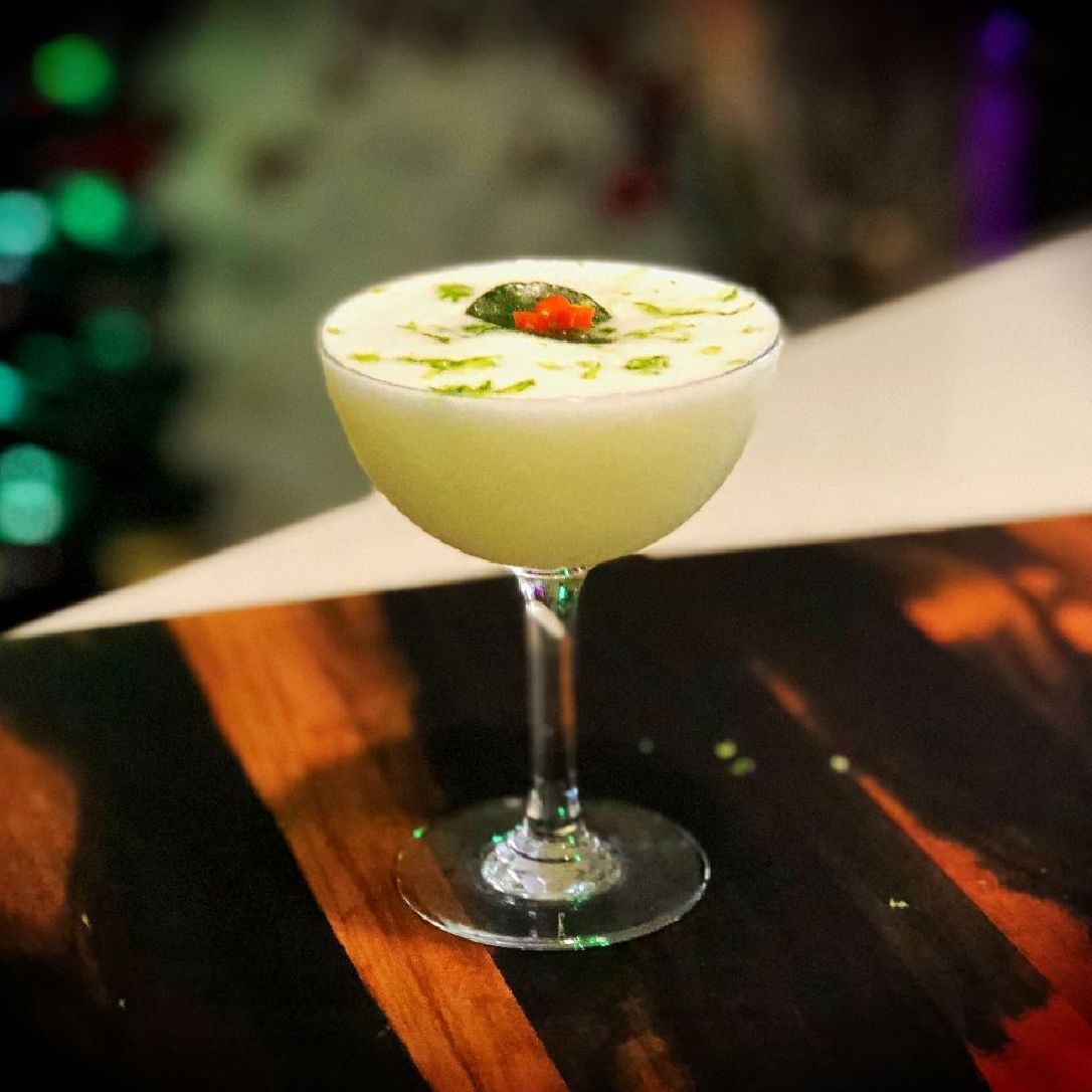Inspired by Tom Kha soup, I wanted to take the classic Flip concept for a bit of a journey.  It's boozy, sweet, spicy, herbaceous and somewhat creamy.  You want this. You absolutely want this!  This drink can also be made with tum yum syrup.
