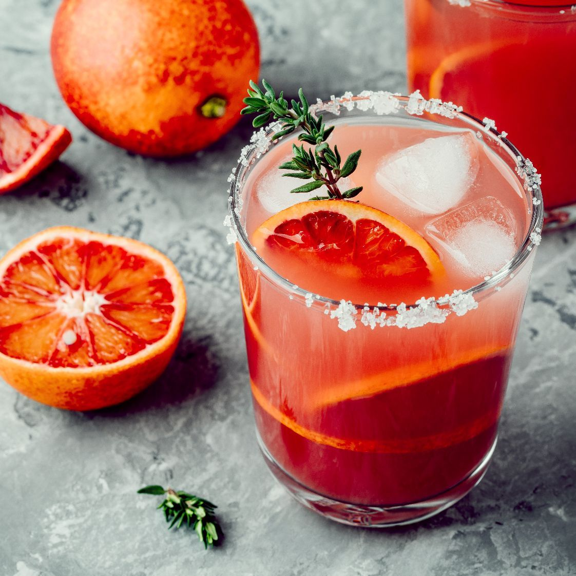 This cocktail features our fresh-squeezed blood orange juice imported from Sicily. Our juice is grown at the base of Mt. Etna, an active volcano. The volcano releases nutrients into the soil which gives our oranges a rich taste and health benefits.