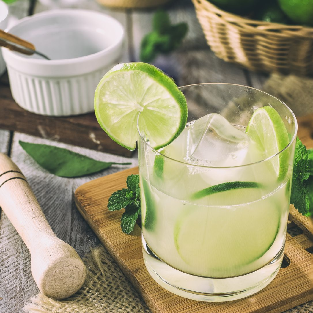 The Caipirinha is Brazil's national drink, a refreshing showcase for the country's national spirit Cachaça, a spirit distilled from sugarcane. It's smiliar to rum but has its own very distinct flavor and funk.