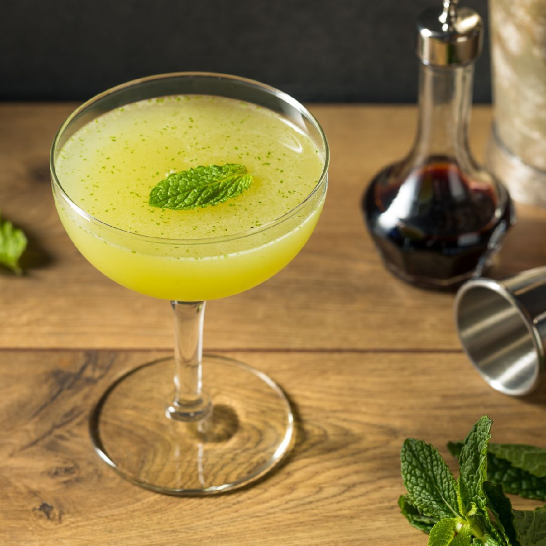 Whether you think of it as a minty Gimlet or a gin Julep, the Southside is a tantalizing sour that's been around for a century. (A version of the recipe first appeared in Recipes for Mixed Drinks by Hugh Enslinn in 1916 as the