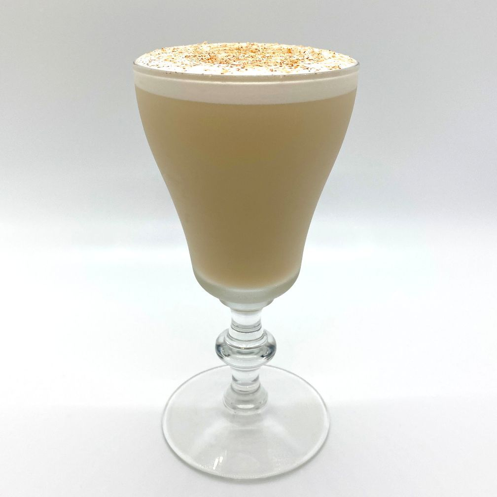 Whether it was due to overconsumption of carton Egg Nog as a kid, or the whiff of booze in my glass at too young an age, I grew up never liking Egg Nog. As I grew older everyone got so excited about it every year and every year, I didn't have the least bit of interest. But as I was bartending, my guests would annually ask if I served a great Egg Nog. Since I didn't, and didn't really want to, I had a problem. I had to make my guests happy and also serve something I was proud of. I wanted to create a single serving tribute to Egg Nog that I could produce at will for any guest overflowing with the Holiday spirit.  Flips are a category of mixed drinks that date back to the 17th century. Different from a Nog, they use a whole egg rather than cream to achieve the silky creamy mouthfeel. They can be served warm as in the old days or chilled to your liking.  The Festivus Flip starts with a base of Brandy and then layers flavors of Vanilla, Honey, and Allspice. With grated fresh Nutmeg on top, I finally had a version of a creamy Holiday concoction that I would enjoy drinking. A nog of sorts for the rest of us!