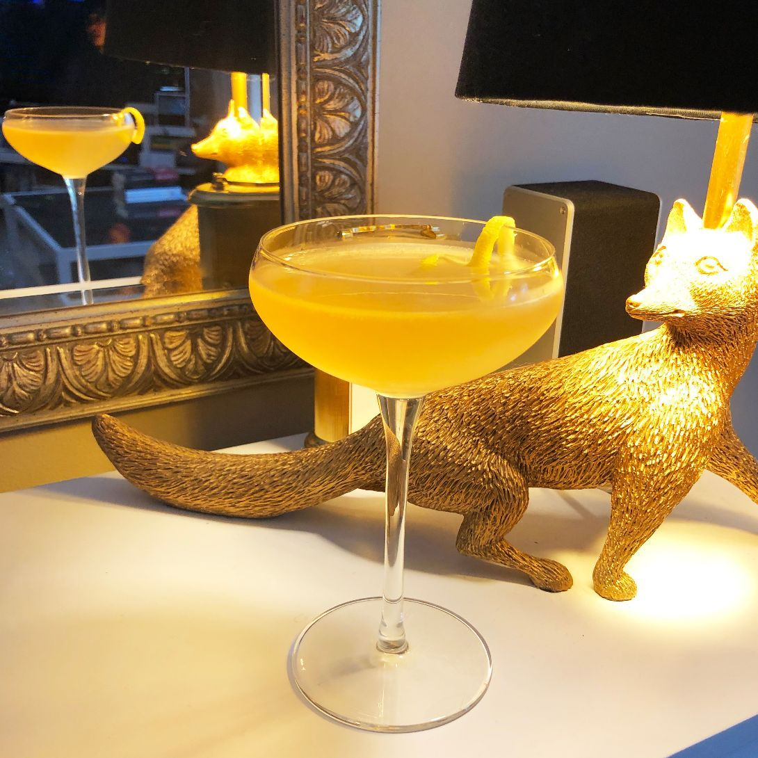 The Army and Navy is a tasty riff on a gin sour, serving up orgeat syrup in place of simple syrup. It makes a fine base for experimenting with different gins and different bitters. You can get creative with this one, and the troops will approve!