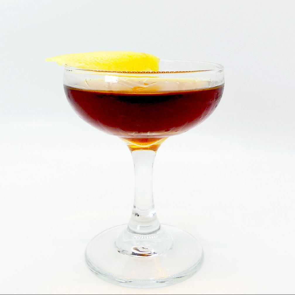 My first ever variation on a Manhattan. I simply thought about taking a Manhattan into more forest like with its aromatics by rinsing the glass with Green Chartreuse. I immediately thought about a classic NY name. But since this was prior to the internet explosion of cocktails, I couldn't verify if anyone had called a drink a Central Park. So, let's just add 'West' to it just in case since we're out here in Anaheim.