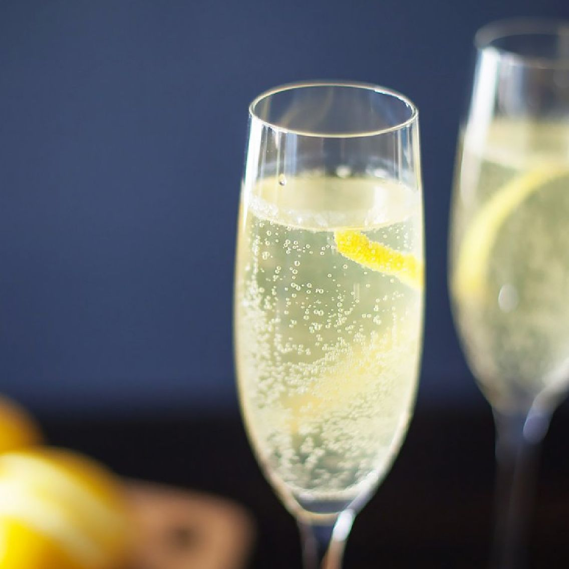 A drink that combines two of our favorite ingredients – Fords Gin & Champagne.  Named after the 75mm field cannon utilized by the French forces in World War 1, this classic tipple originated in Paris, circa 1915. The fresh lemon juice combines with the citrus peels of Fords Gin to give a bright and floral character to an already delightful sparkling and refreshing cocktail.