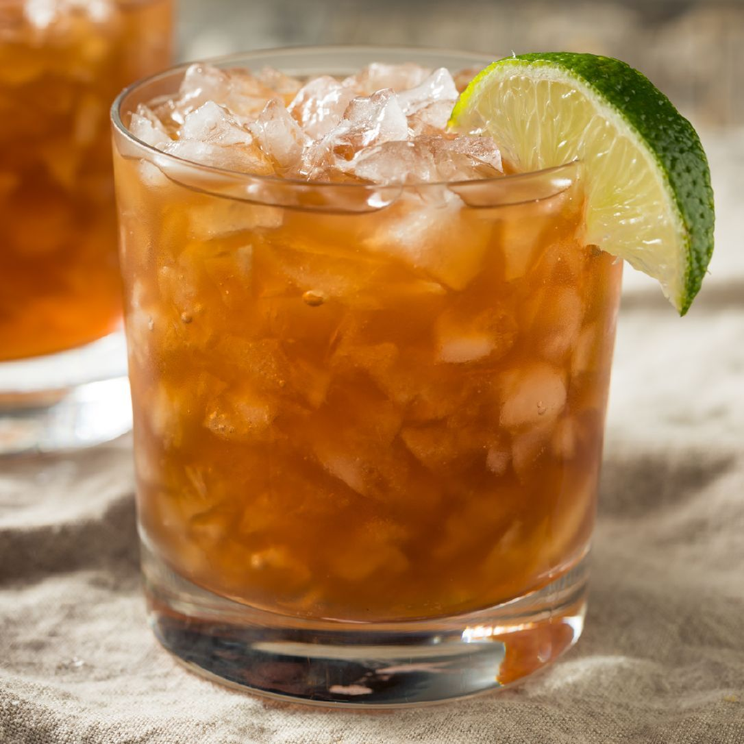 A popular cocktail in the Caribbean, there is no definitive origin story for this molasses-heavy drink. There is neither corn nor oil in this concoction, but the float of blackstrap rum looks sort of like oil...?